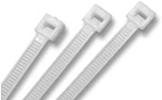 """product image for BuyCableTies 11"""" Standard Indoor Cable Ties - 50 lb Rated - Made in USA - Natural/Clear - 1000 per bag"""