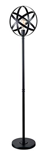 Kenroy Home Global Floor Lamp, Black Finish