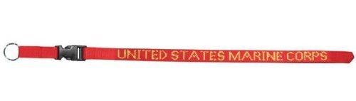 Usmc Neck Strap Key Ring - USMC Marine Corps Lanyard - Neck Strap Key Ring by Mitchell Proffitt