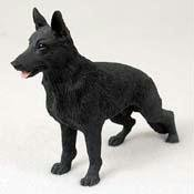 German Shepherd, Black Original Dog Figurine (4in-5in) ()