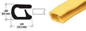 CRL QuickEdge® Safety Yellow Single Lip Trim - 75000333
