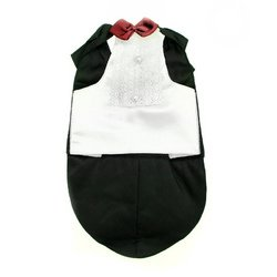 [Tuxedo Dog Costume by Puppe Love : See description for size] (Dapper Dog Tuxedo Pet Costumes)