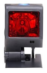 Honeywell MK3580-31A62 Quantum T Series 3580 Omnidirectional Laser Scanner Kit, Standard Square Weighted Base, 10.7' Straight Ruby Verifone Cable, Documentation, Black