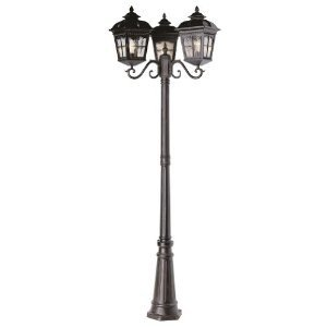 Trans Globe Lighting 5428 AR Outdoor Briarwood 86'' Pole Light, Antique Rust