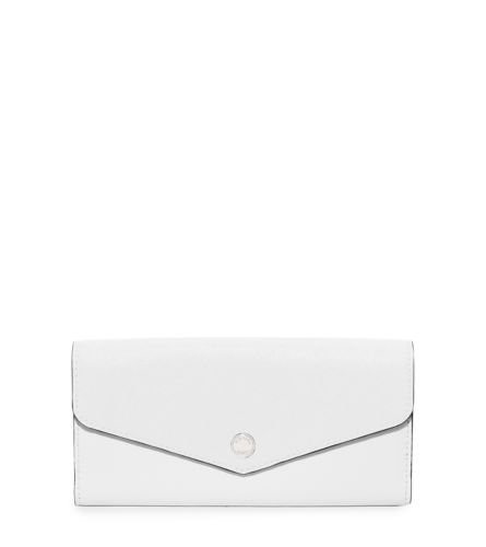 Michael Kors Greenwich Color-Block Wallet Optic White Navy Blue - And Blue Navy Handbag Michael White Kors
