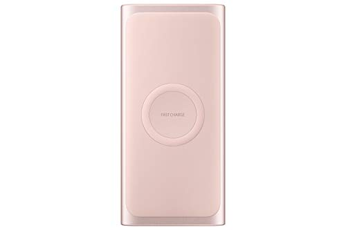 Samsung 2-in-1 Portable Fast Charge Wireless Charger and Battery Pack 10,000 mAh, Pink (US Version with Warranty)