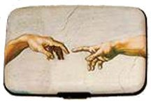 Mens Icon Wallet (RFID Secure Armored Wallet - Art Icons, Creation of Adam)