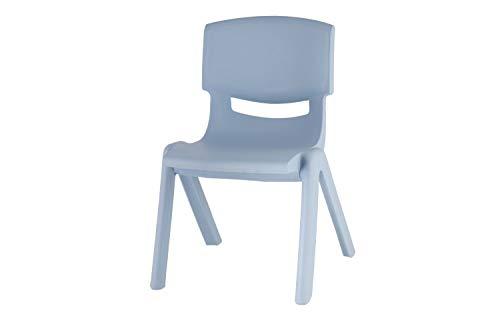 04201806 BIECO Chaise de Plastique, d'environ 36 x 34 x 51,5 cm, Le Plastique de la Chaise, empilable, Bleu