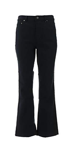 Liz Claiborne NY Hepburn Colored Boot Cut 5 Pocket Jeans Black 18WP NEW A261292
