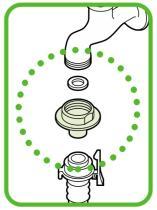 三栄水栓 【洗濯機水栓用取り付け金具】 洗濯機用ニップル PT331T