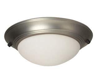 Craftmade Kits Bowl Light - Craftmade LKE53BN-NRG 2 Light Elegance Bowl Fan Light Kit, Brushed Satin Nickel