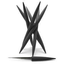 Legnoart Spicy Magnum Knifeblock With 6 Different Knives - Black by Legnoart - Italy