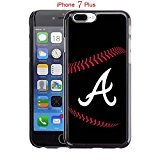 Apple iPhone 7 Plus Case, GA ATL Braves Logo 34 Drop Protection Never Fade Anti Slip Scratchproof Black Hard Plastic Case