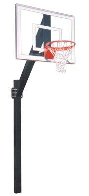 最初チームLegend Jr。ウルトラsteel-glass地面固定高さバスケットボールsystem44 ;スカーレット B01HC0CUU8