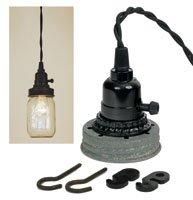 Mason Jar Pendant Lamp Kit - Barn Roof