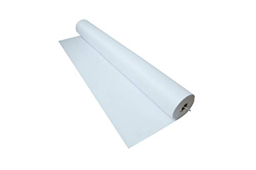 Trademark Innovations 100' x 3' White Wedding Aisle Runner Decoration ()