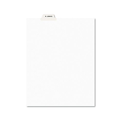 Avery 12387 Avery-Style Preprinted Legal Bottom Tab Dividers, Exhibit N, Letter (Pack of - Dividers Bottom Legal Tab Exhibit