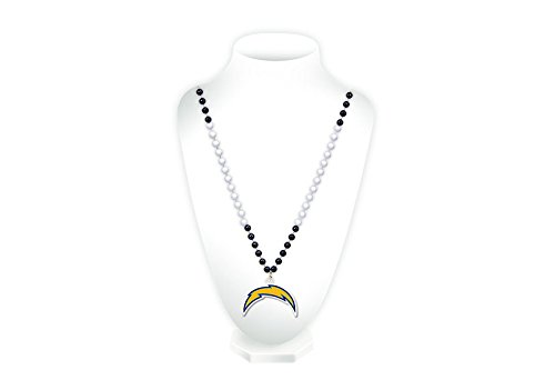 NFL Los Angeles Chargers Team Logo Mardi Gras Style Beads ()