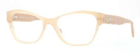 Versace Eyeglasses VE 3180 Eyeglasses 5039 Beige and gold - Mens Versace Gold Frames