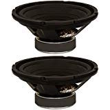 Goldwood Sound, Inc. Stage Subwoofer, OEM 8'' Woofers 130 Watts each 8ohm Replacement 2 Speaker Set (GW-8002/8-2) by Goldwood Sound, Inc.