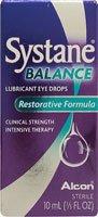 Alcon Systane Balance des gouttes oculaires lubrifiantes Formule réparatrice - 0,33 onces liquides