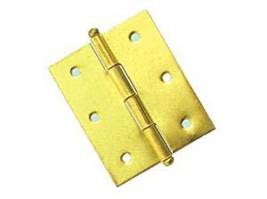 30x30 mm. - Spessore 0,9 cf. 50 pz. Cerniera piana ottonata