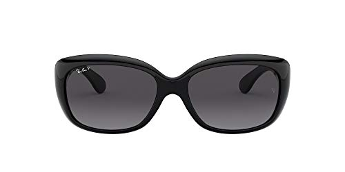 Ray-Ban Women's RB4101 Jackie Ohh Sunglasses, Black/Polarized Grey Gradient, 58 mm (Ray Bans Jackie Ohh)