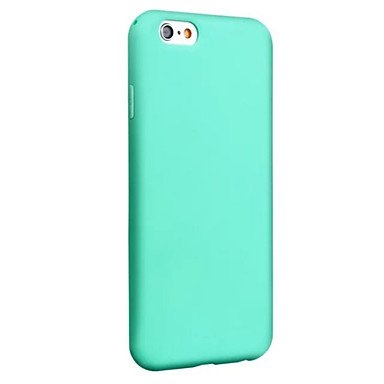 Fundas y estuches para teléfonos móviles, Caso para el iphone 7 más la caja delgada del color sólido de la cubierta mate del tpu de la cubierta del caso trasero del caso de la ( Color : Transparent ,  Azul claro