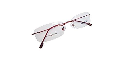 Red Memory Hingeless Rimless Flexible Eyeglass Frame 8 Colors Spectacles Eyewear - Hingeless Eyeglasses