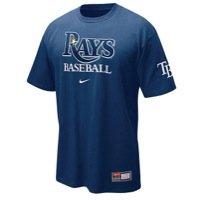 NIKE Tampa Bay Rays Practice T-Shirt - Navy Blue (Large) ()