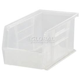 Hang Bin Clear Window - Quantum QUS230 Plastic Storage Stacking Ultra Bin, 10-Inch by 5-Inch by 5-Inch, Clear, Case of 12