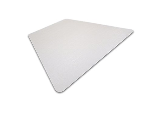 - Cleartex Ultimat, Corner Workstation Chair Mat, Polycarbonate, For Hard Floors, 48