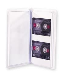 Audio Cassette Tape Storage Album Clear Up To 2 Cassettes With