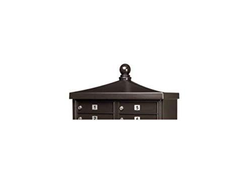 Architectural Mailboxes CBU Decorative Cap Ball Finial Black Peb