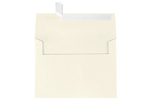 Cream Invitations (A7 Invitation Envelopes w/Peel & Press (5 1/4 x 7 1/4) - Natural Linen (50 Qty.) | Perfect for Invitations, Announcements, Sending Cards, 5x7 Photos, Weddings | 4880-NLI-50)