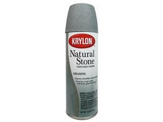 - Krylon Natural Stone Paint 12 oz. Granite
