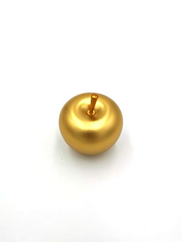 (Vmonv Ring Box Apple Shape Ring Earring Pendant Necklace Box Jewelry Wedding Engagement Fancy Case (Golden))