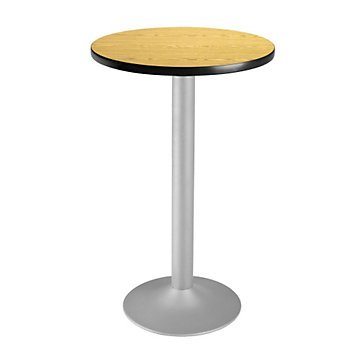 Round Flip-Top Cafe Table Silver Base - 24