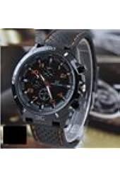 Color orange 2014 new Quartz Business Mens Watches Watches Military Men Corium Leather Strap Sports Mens Watches