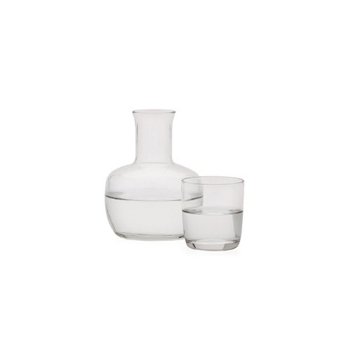 Torre & Tagus 910413 Pluto Glass Water Flask, Clear