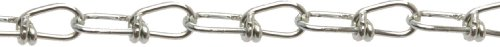 Campbell 0754126 Low Carbon Steel Inco Double Loop Chain in Square Pail, Zinc Plated, #1 Trade, 0.11