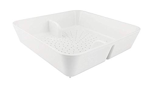 Leyso Floor Sink Drain Strainer ABS Plastic Drop-in Basket 8-1/2