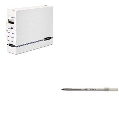 Box X-ray Bankers (KITBICGSM11BKFEL00650 - Value Kit - Bankers Box X-Ray Storage Box (FEL00650) and BIC Round Stic Ballpoint Stick Pen (BICGSM11BK))