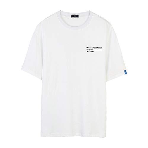 CHLCH T Shirt Semplice, t Shirt a Maniche Corte, Tinta Unita