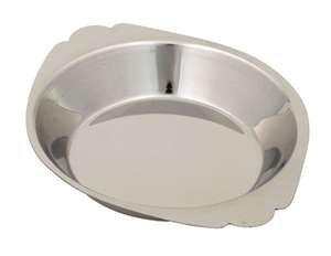Royal Industries Round Au Gratin, Stainless Steel, 6 oz, Silver food service warehouse ROY ARSS 806