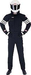 Simpson Safety Black/White Stripes 2X-Large Driving Jacket P/N 0402512