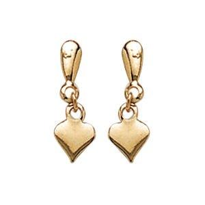 So Chic Bijoux © Boucles d'oreilles Pendant Coeur Amour Plaqué Or 750