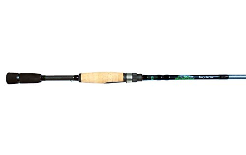 Dobyns Rods Fury Series FR 702SF Medium/Light Power Fast Action Spinning Rod, 7'0', Black/Green