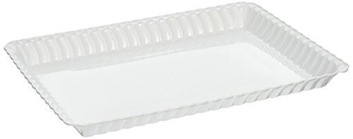 "Fineline Settings Flairware White 9""X13"" Serving Tray, Bu..."