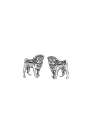 Boma-Sterling-Silver-Pug-Dog-Post-Earrings